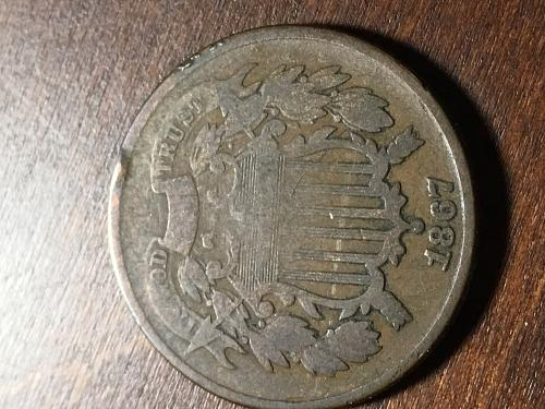 1867 Two Cent Item 0918075