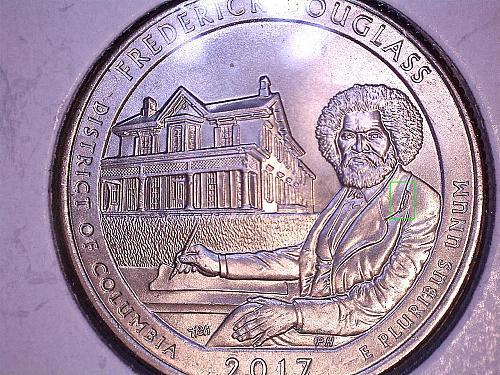 2017 P Frederick Douglass Quarter  3 Quarters- 3 Die Stages
