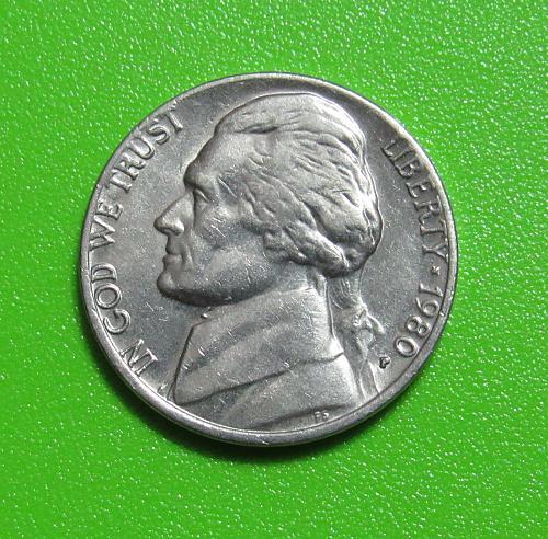 1980-P 5 Cents - Jefferson Nickel
