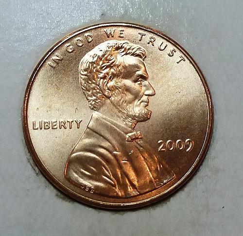 2009 -P Satin Finish Gem Uncirculated Memorial Cent Professional Life (1796)