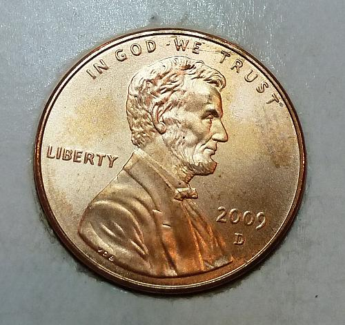 2009 -D Satin Finish Gem Uncirculated Memorial Cent Presidency (1800)