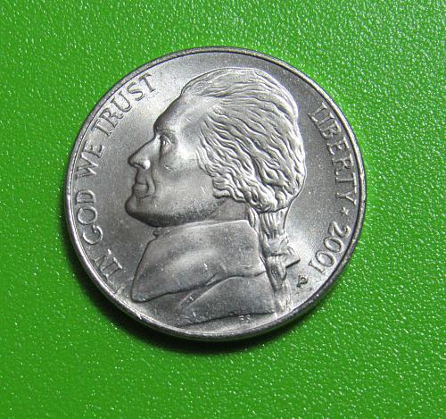 2001-P 5 Cents - Jefferson Nickel