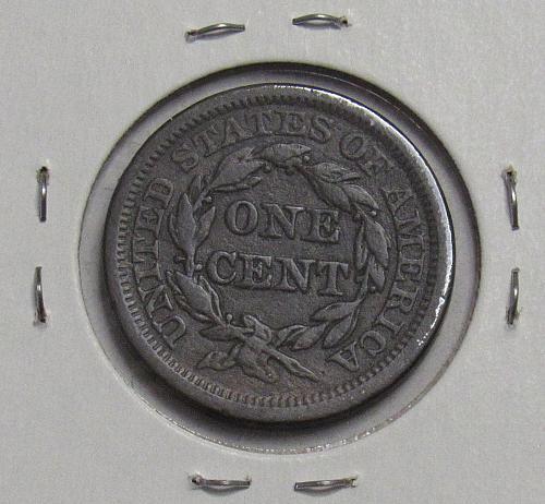 1845 P Braided Hair Liberty Head Large Cent