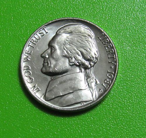 1987-D 5 Cents - Jefferson Nickel