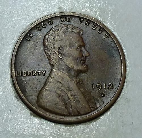 1912-D Very Fine Lincoln Wheat Cent  VF ( 1725)