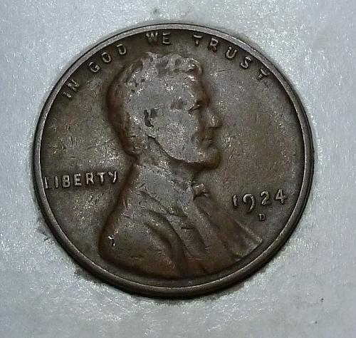 1924-D Very Fine Lincoln Wheat Cent  VF ( 1752)