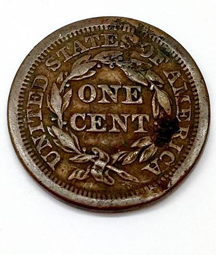 1854 Braided Hair Liberty Head Large Cent