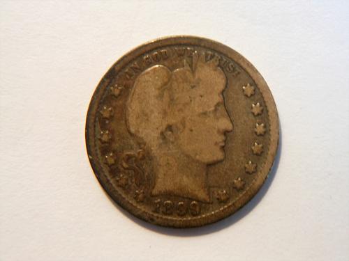 1899-P *Toned* Silver Barber Quarter