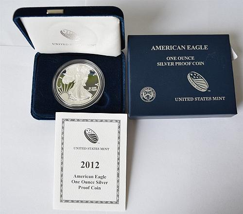 2012-W Proof Silver Eagle. Complete. Gorgeous!!!!