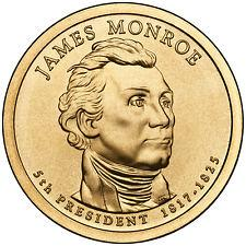 2008  S  PROOF  JAMES  MONROE    GOLDEN DOLLAR