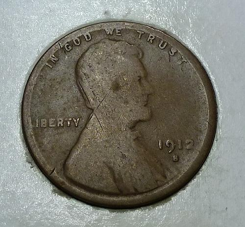 1912-S Good Lincoln Wheat Cent  G ( 1726)