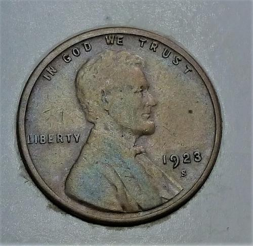 1923-S Extra Fine Lincoln Wheat Cent  XF ( 1748)