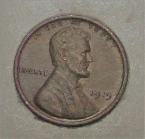 1919-P Uncirculated Lincoln Wheat Cent  UNC ( 1742 )