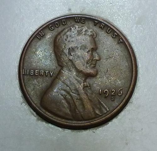 1926-S Very Fine Lincoln Wheat Cent  VF ( 1759)