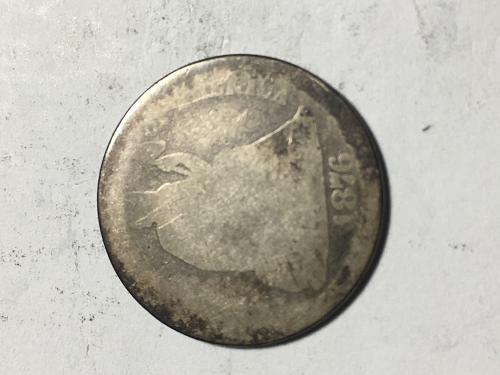 1876 CC Seated Liberty Dime Item 0918371