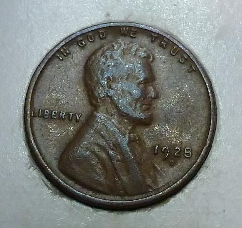 1928-D Extra Fine Lincoln Wheat Cent  XF ( 1763)