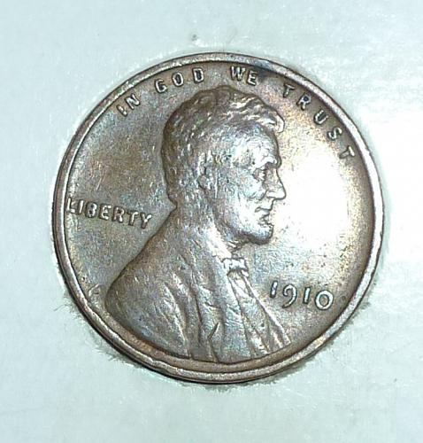 1910-P XF Lincoln Wheat Cent Extra Fine (1807 )