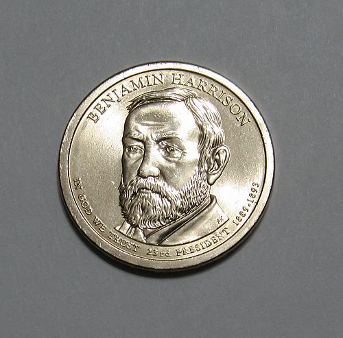 2012-P $1 - Benjamin Harrison Presidential Dollar Coin