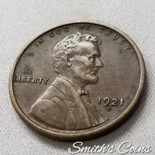 1921 S Lincoln Wheat Cent ~ XF