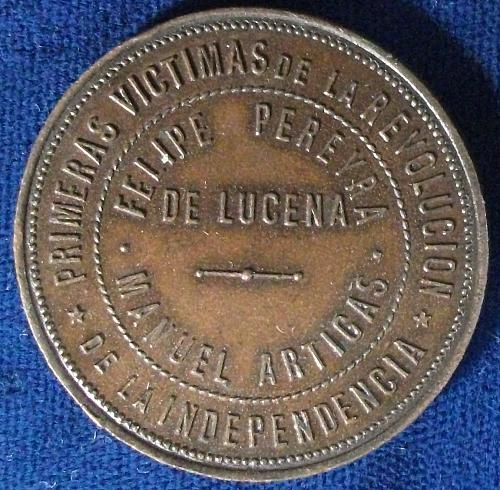 1891 Argentina Medal,  Felipe Pereyra de Lucena, Manuel Artigas, May Pyramid