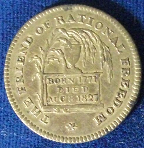 1827 George P. Canning Memorial Medallion