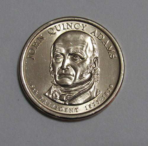 2008-D $1 - John Quincy Adams Presidential Dollar Coin