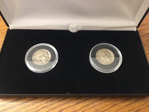 1913 Type 1 & Type 2 Extra Fine Buffalo Nickel Set