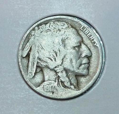 1917-P  Full Good Buffalo Nickel ( 1829 )