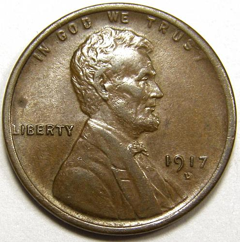 1917 D Lincoln Wheat Cent #1