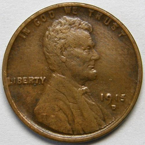 1915 D Lincoln Wheat Cent #3