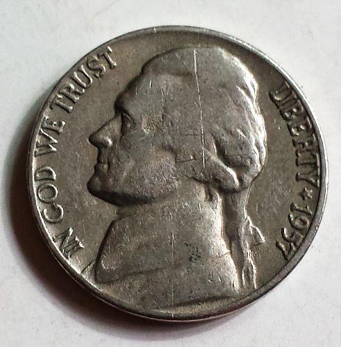 1957-P Jefferson Nickel