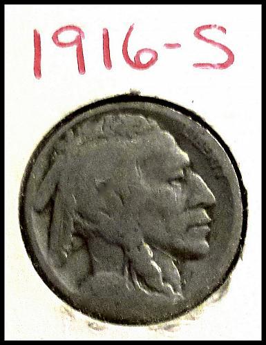 1916-S Indian Head Buffalo Nickel