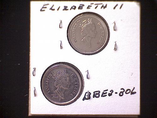 1867/92 - 1952/02 TEN CENT QUEEN ELIZABETH 11 (2PACK)
