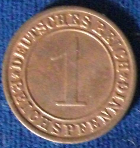 1929F Germany/Weimar Reichspfennig AU