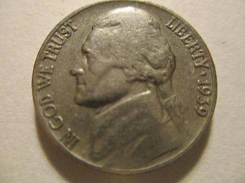 1939 P Jefferson Nickel