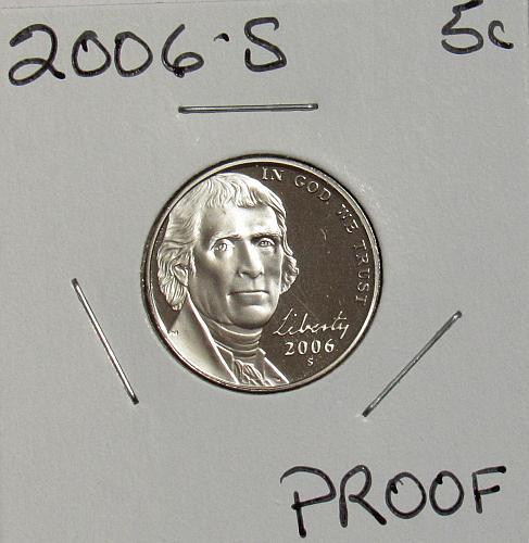 2006 S Proof Jefferson Nickel