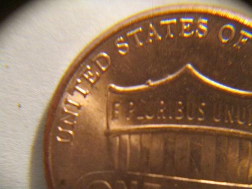 2017 P Lincoln Cent  (Die Flaw in top of Shield) Reverse