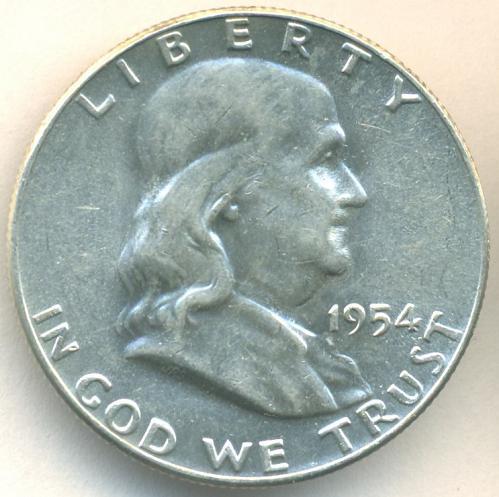1954 P Franklin Half Dollar