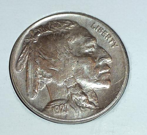 1927-P  Full Extra Fine Buffalo Nickel ( 1851 )