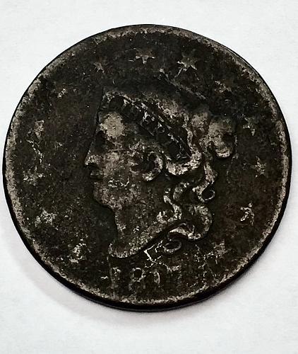 1817 Coronet Liberty Head Large Cent - 13 Stars