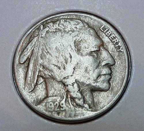 1929-S  Full Extra Fine Buffalo Nickel ( 1859 )