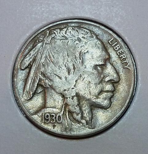 1930-P  Full Extra Fine Buffalo Nickel ( 1860 )