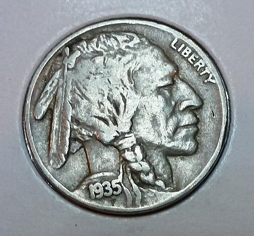 1935-P  Full Verty Fine Buffalo Nickel ( 1865 )