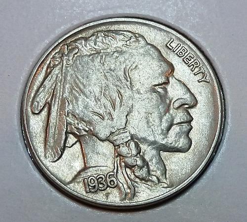 1936-P  Full GEM BU Buffalo Nickel ( 1868 )