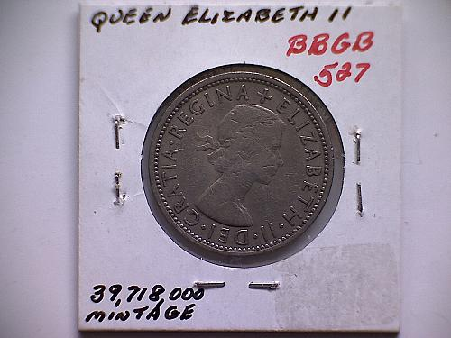1967 GREAT BRITAIN ONE FLORIN QUEEN ELIZABETH 11