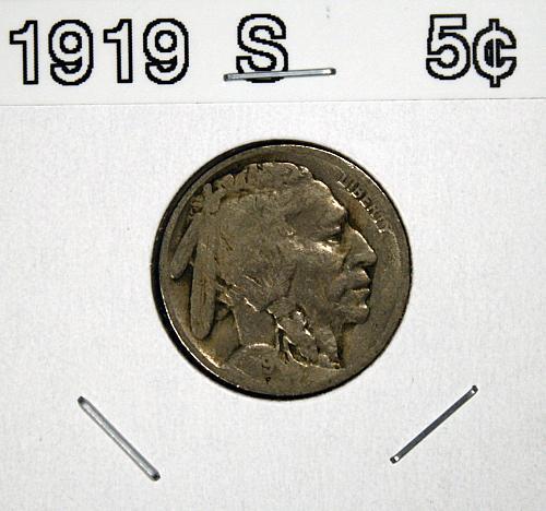 1919 S Buffalo Nickel