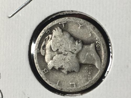 1920 Mercury Dime Item 0918622