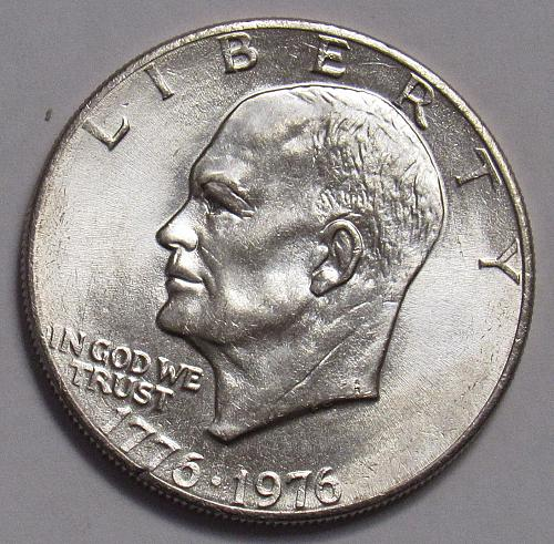 1976 P Eisenhower Dollar Type 2 with Delicate Lettering in BU