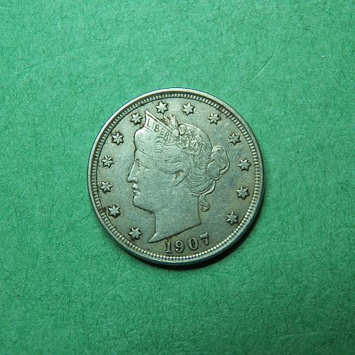 1907 Liberty V Nickel Very Fine Coin   r50