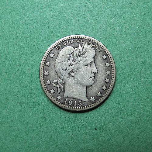 1915 P Barber Quarter Fine Coin   r51